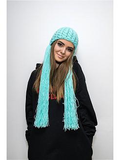 Женские вязаные шапки из шерсти и акрила