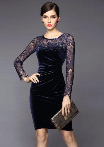 Как и с чем носить бархатное платье